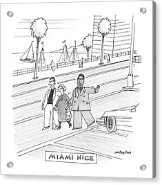 Miami Vice Acrylic Print by Mick Stevens