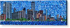 Miami - View From Rickenbacker Causeway Acrylic Print by Micah Mullen