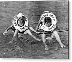 Miami Washtub Winners Acrylic Print by Underwood Archives