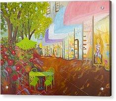 Miami's Coconut Grove Shops Acrylic Print by Douglas Ann Slusher