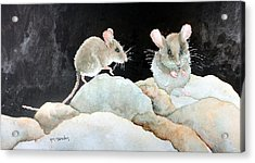 Mice On The Rocks Acrylic Print