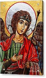 Michael Archangel Acrylic Print by Ryszard Sleczka