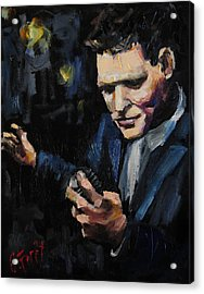 Michael Buble Acrylic Print by Carole Foret