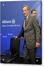 Michael Diekmann, Chief Executive Officer Of The Allianz Se Acrylic Print by Bloomberg