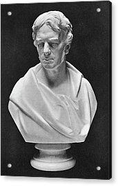 Michael Faraday Bust Acrylic Print