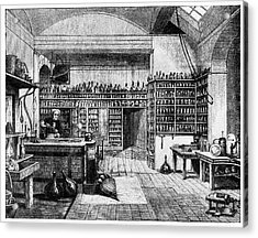 Michael Faraday In His Lab Acrylic Print by Cci Archives
