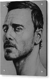 Michael Fassbender Acrylic Print by Steve Hunter