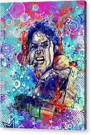Michael Jackson 11 Acrylic Print by Bekim Art