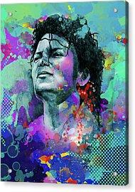 Michael Jackson 12 Acrylic Print by Bekim Art