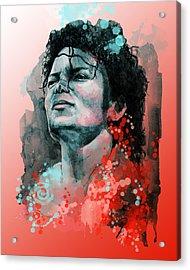 Michael Jackson 13 Acrylic Print by Bekim Art