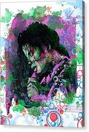Michael Jackson 16 Acrylic Print by Bekim Art