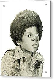 Michael Jackson 5 Acrylic Print by Bekim Art