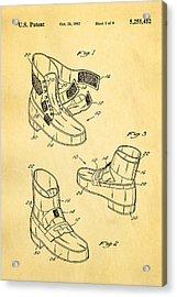 Michael Jackson Anti Gravity Boot Patent Art 1993 Acrylic Print
