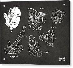 Michael Jackson Anti-gravity Shoe Patent Artwork Vintage Acrylic Print