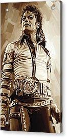 Michael Jackson Artwork 2 Acrylic Print by Sheraz A