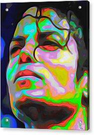 Michael Jackson Acrylic Print by  Fli Art