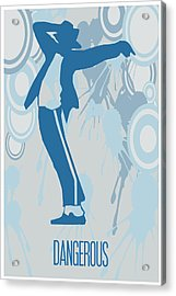 Michael Jackson Dangerous Poster Acrylic Print by Florian Rodarte