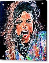Michael Jackson Live 2 Acrylic Print