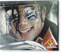 Michael Jackson - Mosaic Acrylic Print by Paulette B Wright