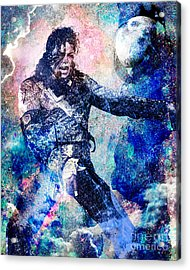 Michael Jackson Original Painting  Acrylic Print by Ryan Rock Artist