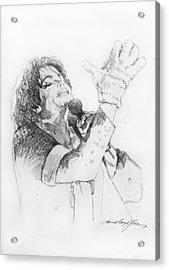 Michael Jackson Passion Sketch Acrylic Print by David Lloyd Glover