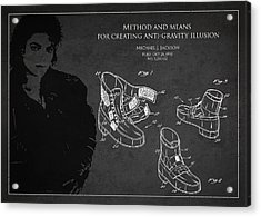 Michael Jackson Patent Acrylic Print by Aged Pixel