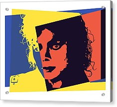 Michael Jackson Pop Art Acrylic Print