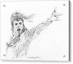 Michael Jackson Power Performance Acrylic Print by David Lloyd Glover