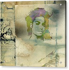 Michael Jackson Silhouette Acrylic Print