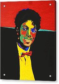 Michael Jackson Acrylic Print by Stormm Bradshaw
