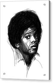 Michael Jackson- The Early Years Acrylic Print by Steve K