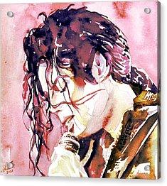Michael Jackson - Watercolor Portrait.7 Acrylic Print