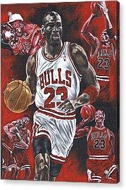 Michael Jordan Acrylic Print by David Courson