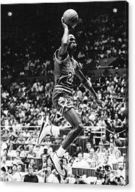 Michael Jordan Gliding Acrylic Print