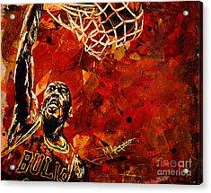 Michael Jordan Acrylic Print by Maria Arango