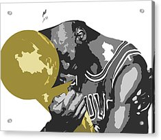 Michael Jordan Acrylic Print by Mike Maher