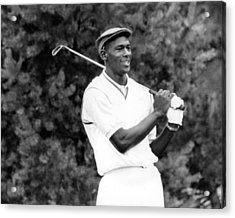Michael Jordan Playing Golf Acrylic Print by Retro Images Archive