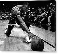 Michael Jordan Reaches For The Ball Acrylic Print