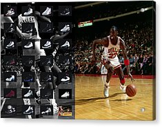 Michael Jordan Shoes Acrylic Print