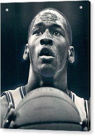 Michael Jordan Shots Free Throw Acrylic Print