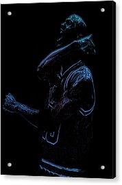 Michael Jordan Victory Acrylic Print by Brian Reaves