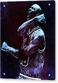 Michael Jordan We Did It Again Acrylic Print by Brian Reaves