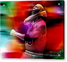 Michael Jordon Acrylic Print by Marvin Blaine