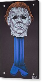 Michael Myers  Acrylic Print by Brent Andrew Doty