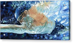 Michael Phelps Acrylic Print by Ash Hussein