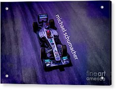 Michael Schumacher Acrylic Print by Marvin Spates