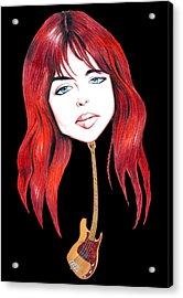 Michael Steele Musician Illustration Acrylic Print by Diego Abelenda