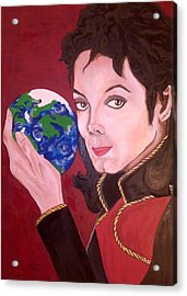 Michael's World Acrylic Print by Lorinda Fore