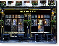 Michaels''s Pub Acrylic Print by David Pyatt