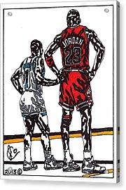Micheal Jordan 1 Acrylic Print by Jeremiah Colley